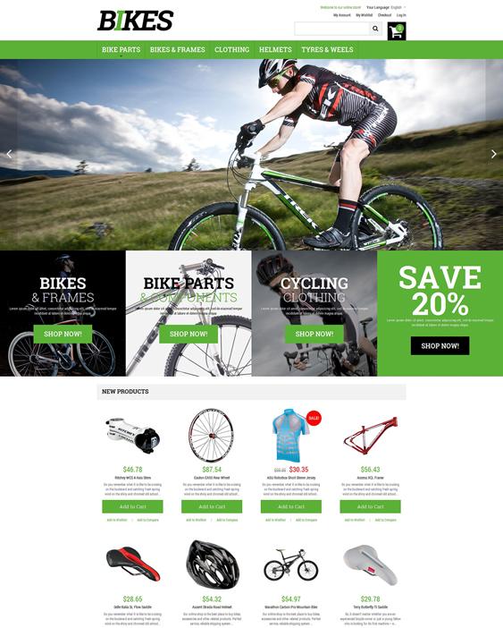 bikes sports fitness magento themes