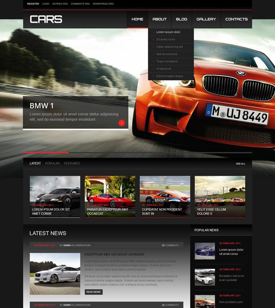 car vehicle automotive wordpress themes 2