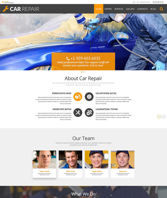 car vehicle automotive wordpress themes repair