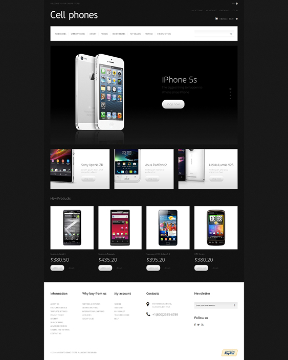 cell dark magento themes