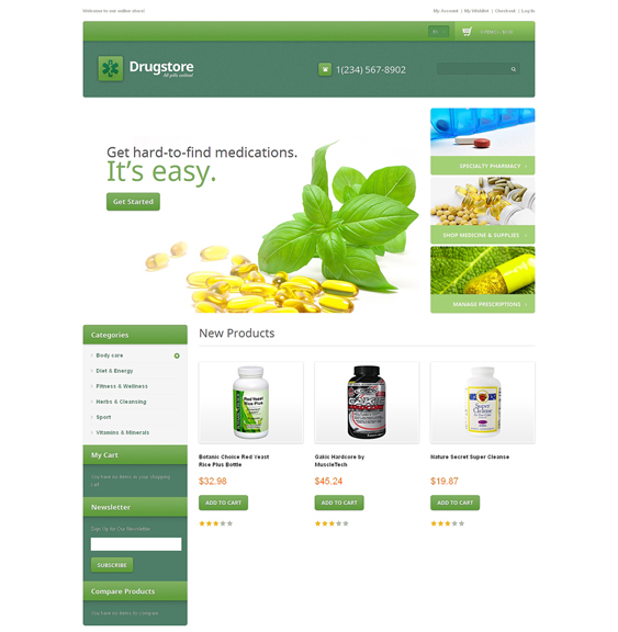 drug store4 medical magento themes