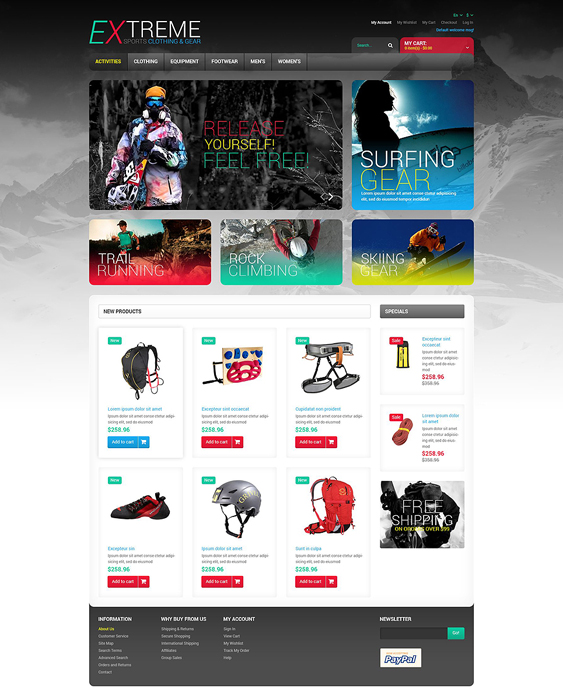 effective sports fitness magento themes