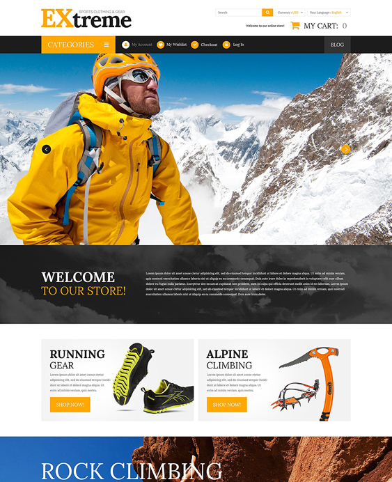 extreme sports fitness magento themes