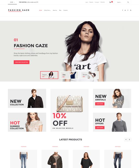 fashion store minimal virtuemart themes