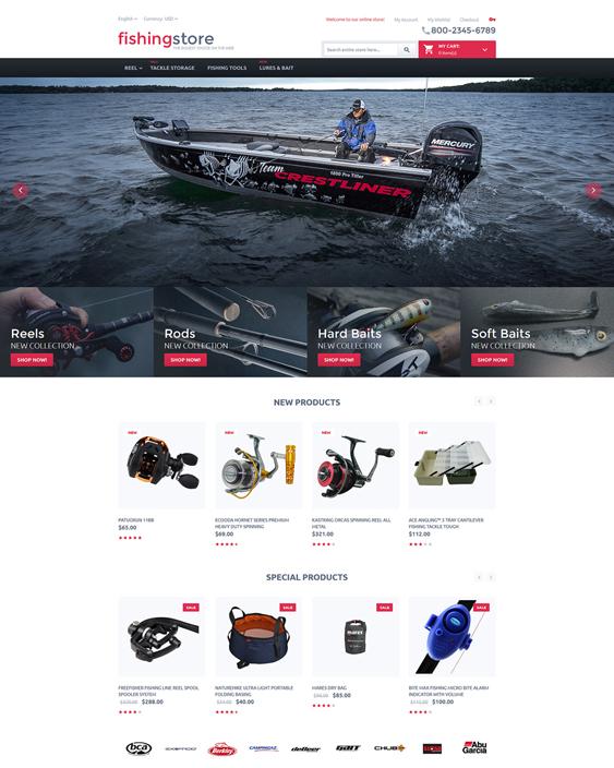 fishing sports fitness magento themes