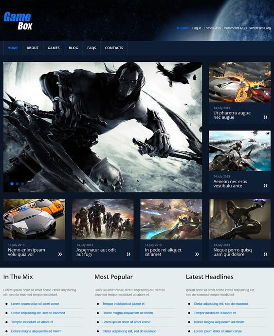 games gaming wordpress themes 3