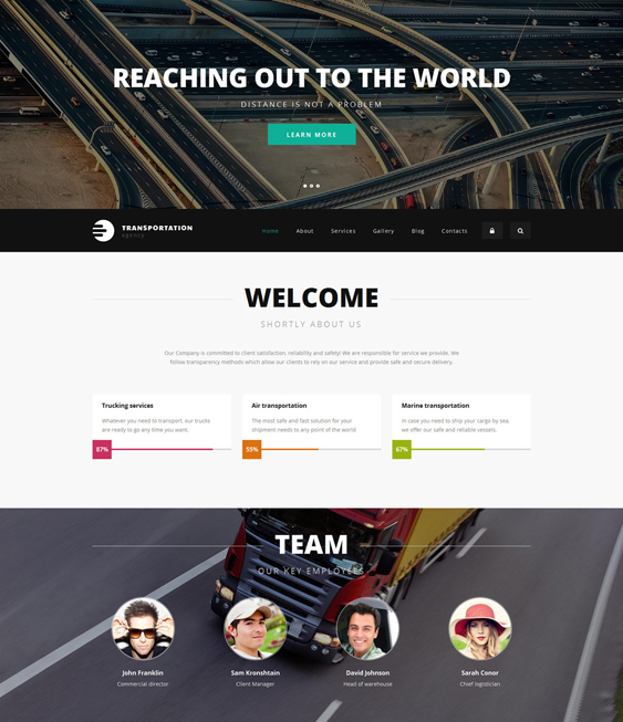 logistics transportation drupal themes