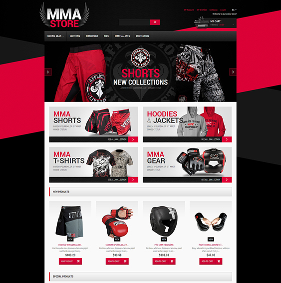 martial sports fitness magento themes