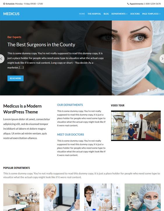 medicus medical wordpress themes