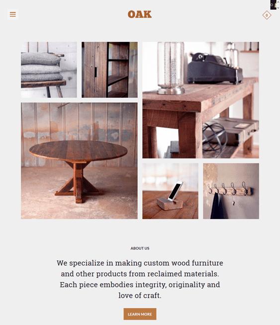 mosaic oak responsive shopify themes