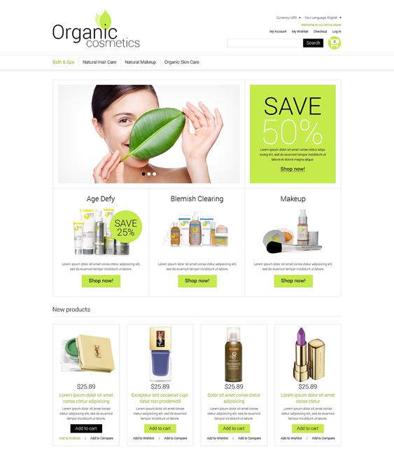 organic hair beauty magento themes