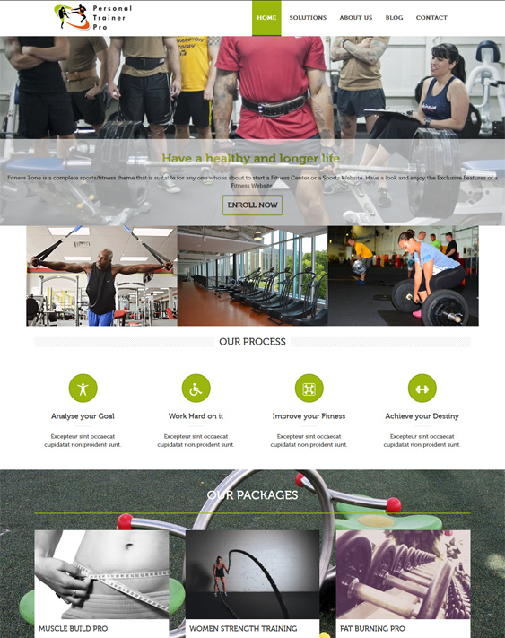 personal trainer gym fitness wordpress themes