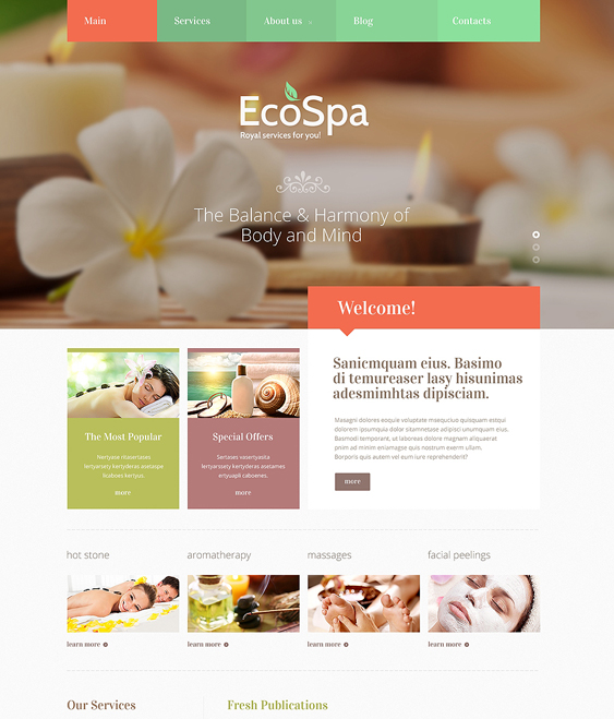 beauty salon spa joomla templates accessories