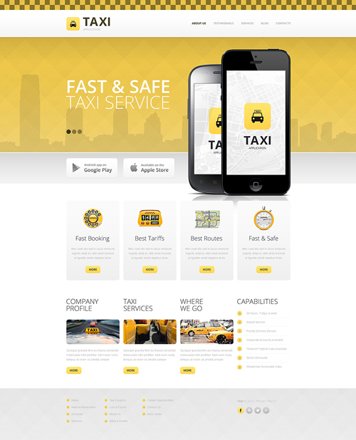taxi transportation drupal themes