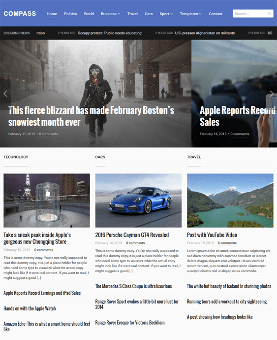 compass news magazine wordpress themes