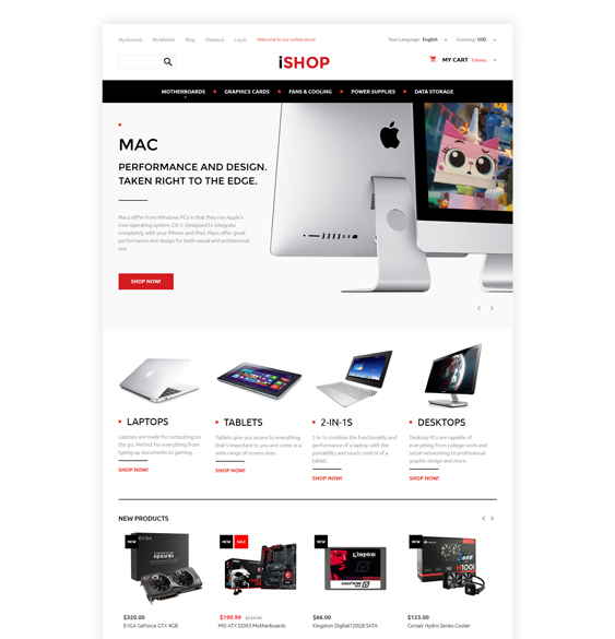 computer magento themes electronic stores