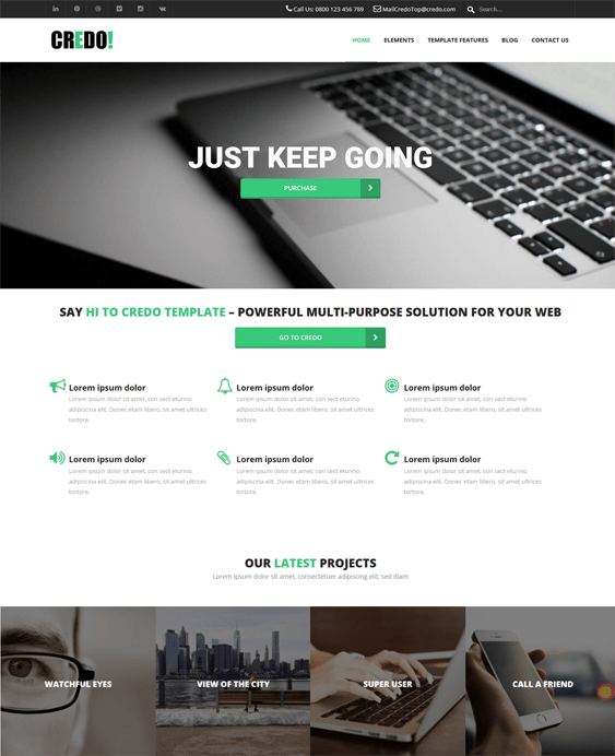 credo clean drupal themes