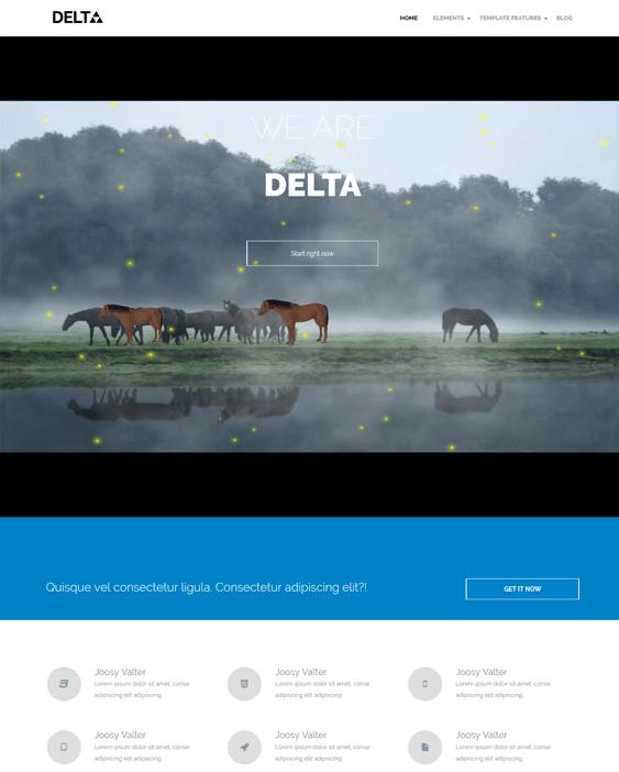 delta clean drupal themes