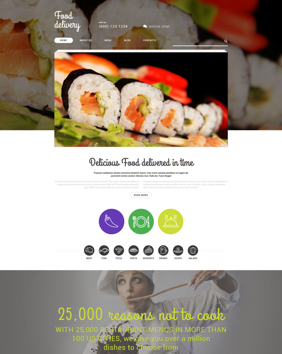 food delivery restaurant wordpress themes