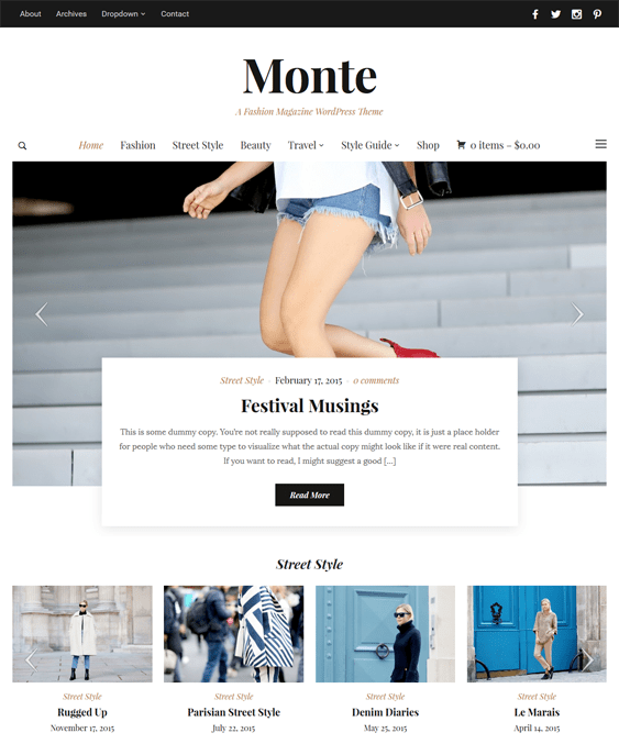 monte news magazine wordpress themes