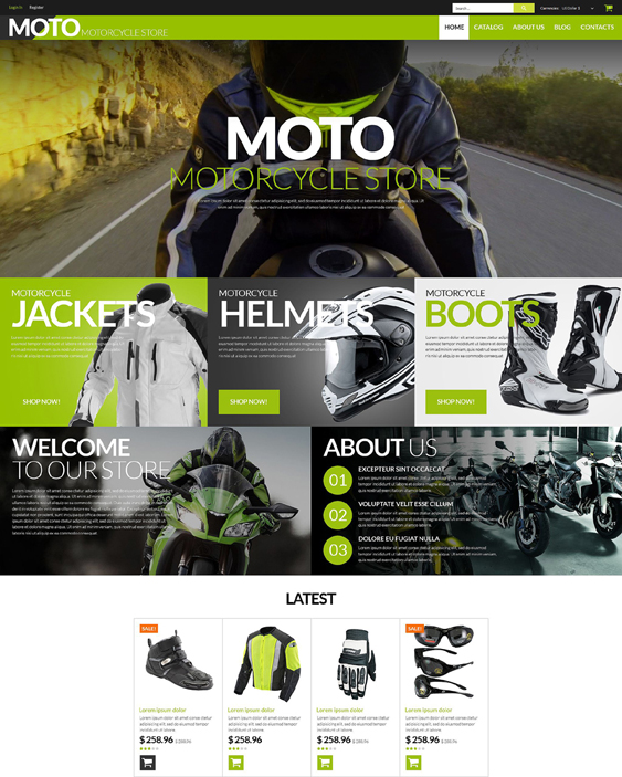 motorcycle responsive virtuemart themes