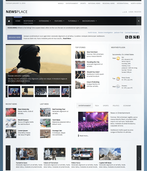 newsplace news magazine wordpress themes