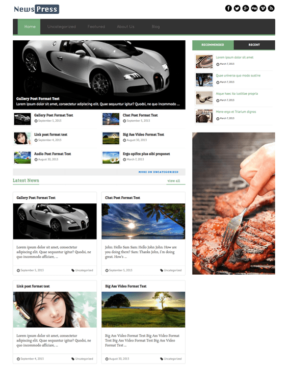 newspress news magazine wordpress themes