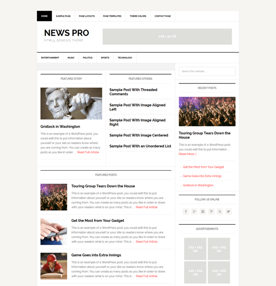 news pro magazine wordpress themes
