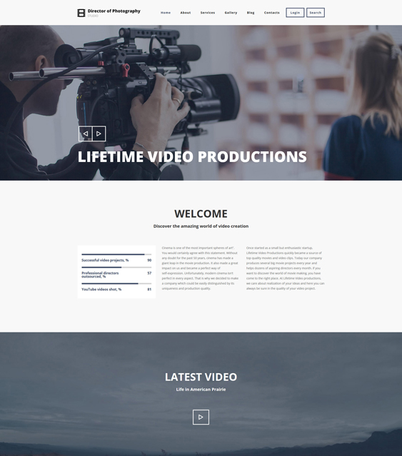 photography clean drupal themes