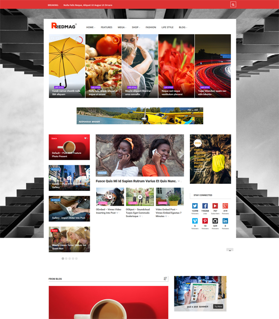 redmag news magazine wordpress themes