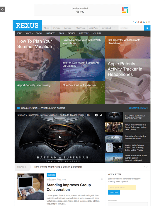 rexus news magazine wordpress themes