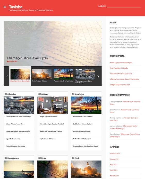 tavisha news magazine wordpress themes