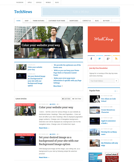 technews magazine wordpress themes