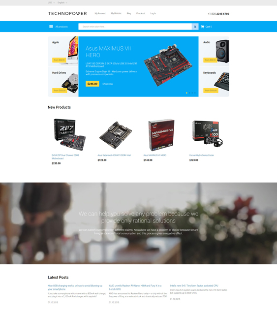 techno power magento themes electronic stores