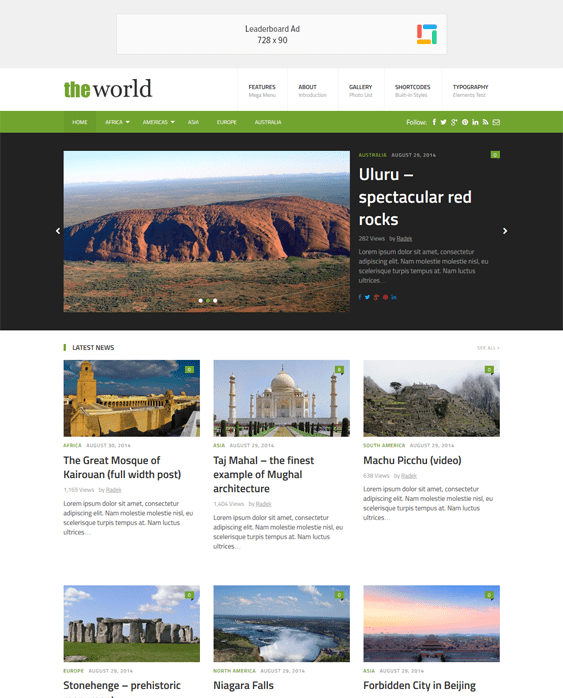 theworld news magazine wordpress themes