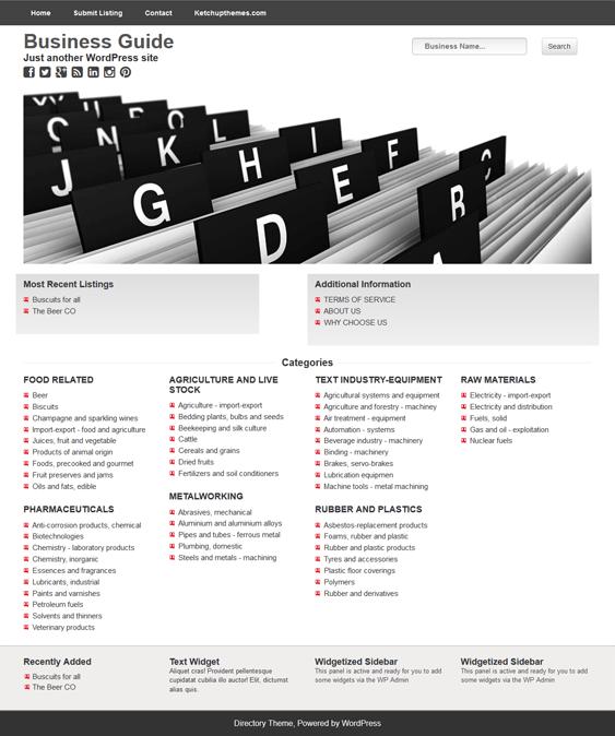 wp directory wordpress themes
