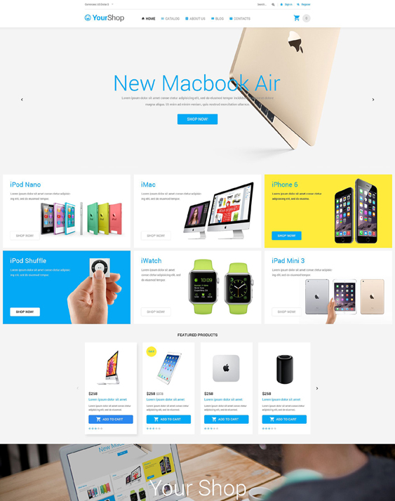 yourshop responsive virtuemart themes