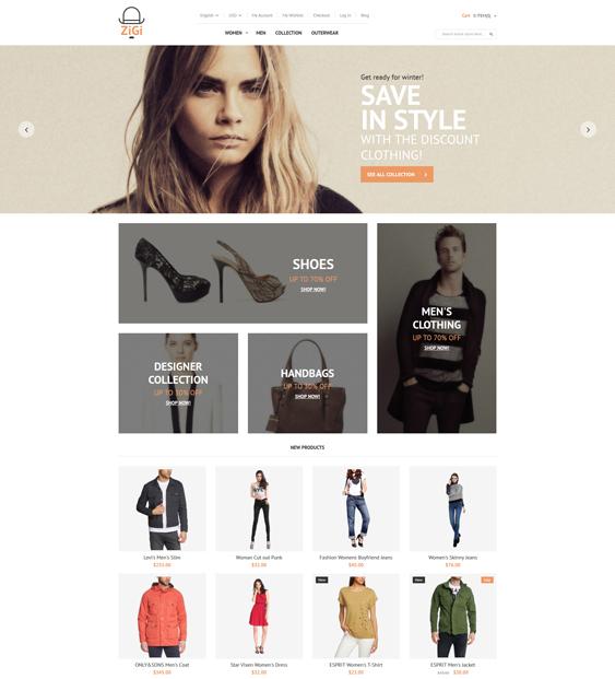 apparel minimal magento themes