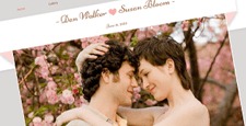 best wedding wix templates feature