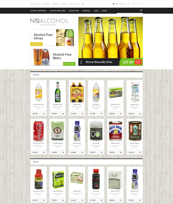 food drink restaurant opencart themes