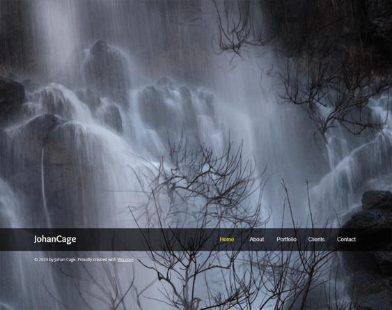 landscape portfolio wix templates