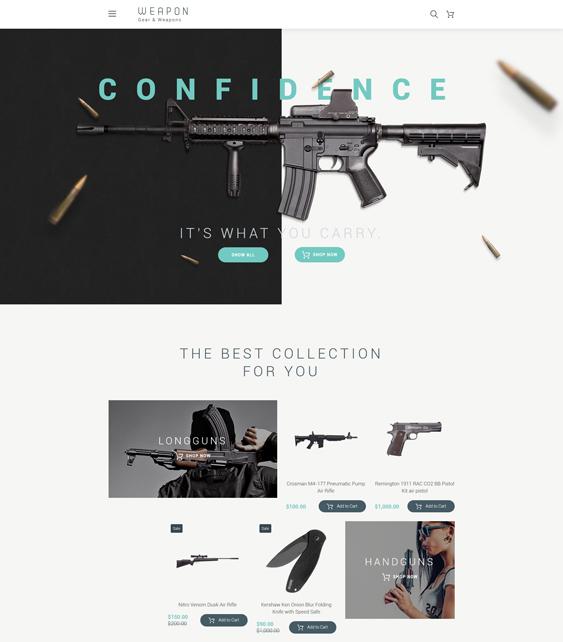 weapon minimal opencart themes
