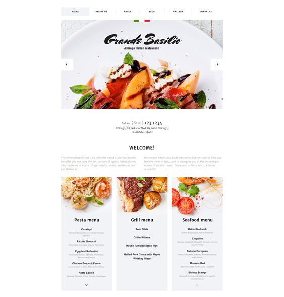 cafe italian restaurant joomla templates