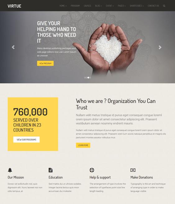 virtue charity nonprofit wordpress themes