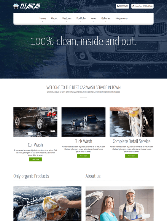 cleancar vehicle automotive wordpress themes