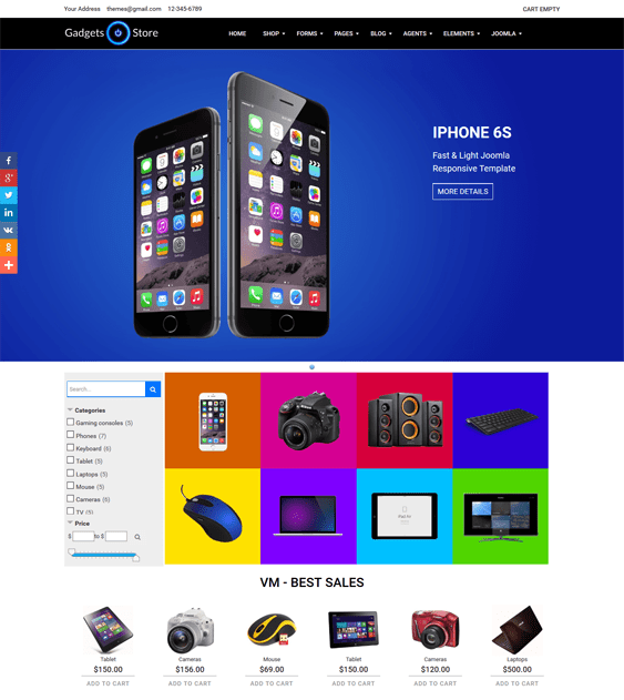 gadgets virtuemart themes