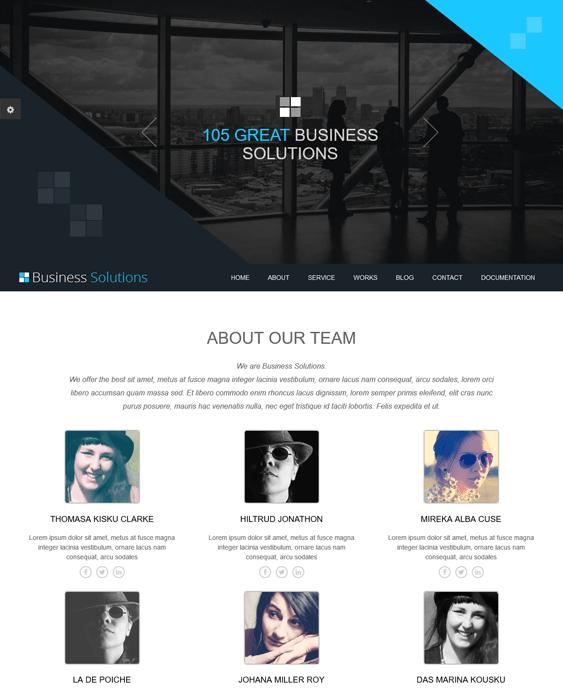 ot business one page joomla templates