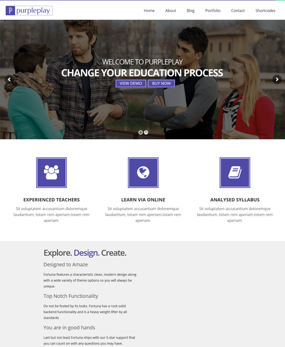 purpleplay education wordpress themes
