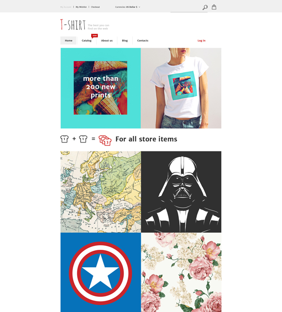 tshirt virtuemart themes
