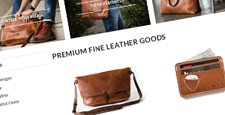 best shopify themes leather goods feature